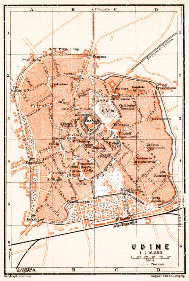 Old Map Of Udine In Buy Vintage Map Replica Poster Print Or - Udine map