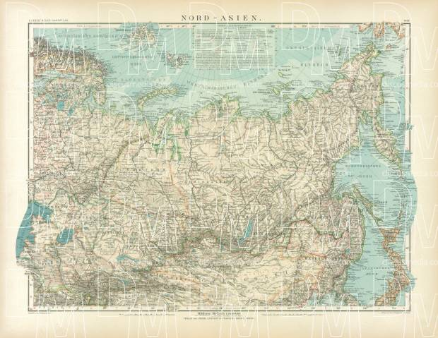 northern asia map 1905 use the zooming tool to explore in higher level of