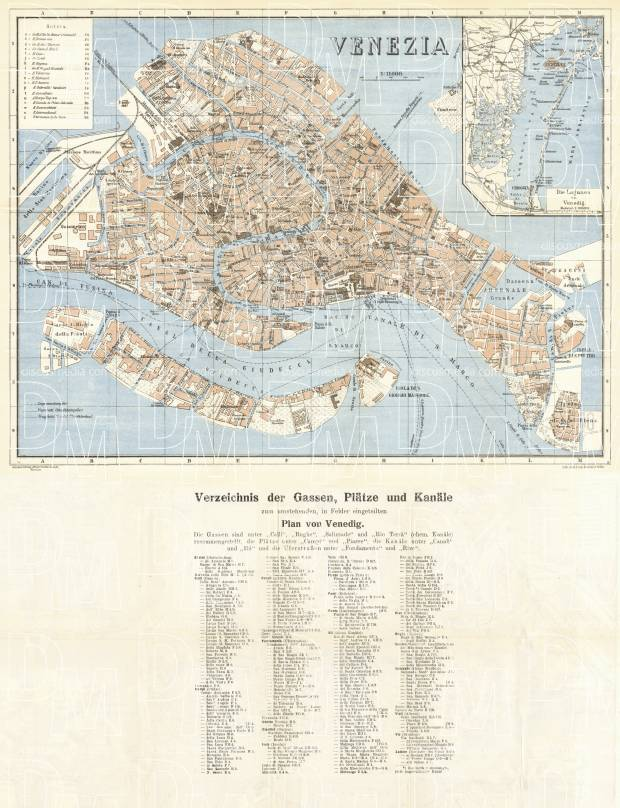picture about Printable Map of Venice named Venice town map, 1930