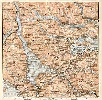 Loch Lomond and the Trossachs map, 1906