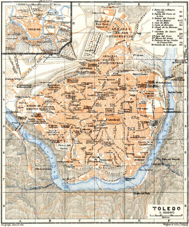Old map of Toledo and vicinity of Toledo in 1929 Buy vintage map