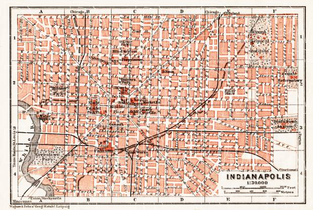 Indianapolis city map, 1909 on map of anderson in, map of university of notre dame in, map of boone county in, map of hendricks county in, map of columbus in, map of noblesville in, map of indianapolis area, map with landmarks of downtown indianapolis, map of carmel in, map of lawrence in, map of camby in, map of brownsburg in, map of indpls, map of indiana in, map of dowtown indianapolis hotels with, map of plainfield in, map of broad ripple in,