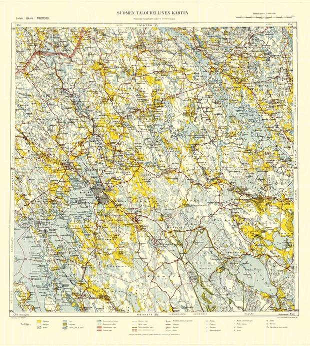 Old Map Of Viipuri Vyborg And Vicinity In 1940 Buy Vintage Map