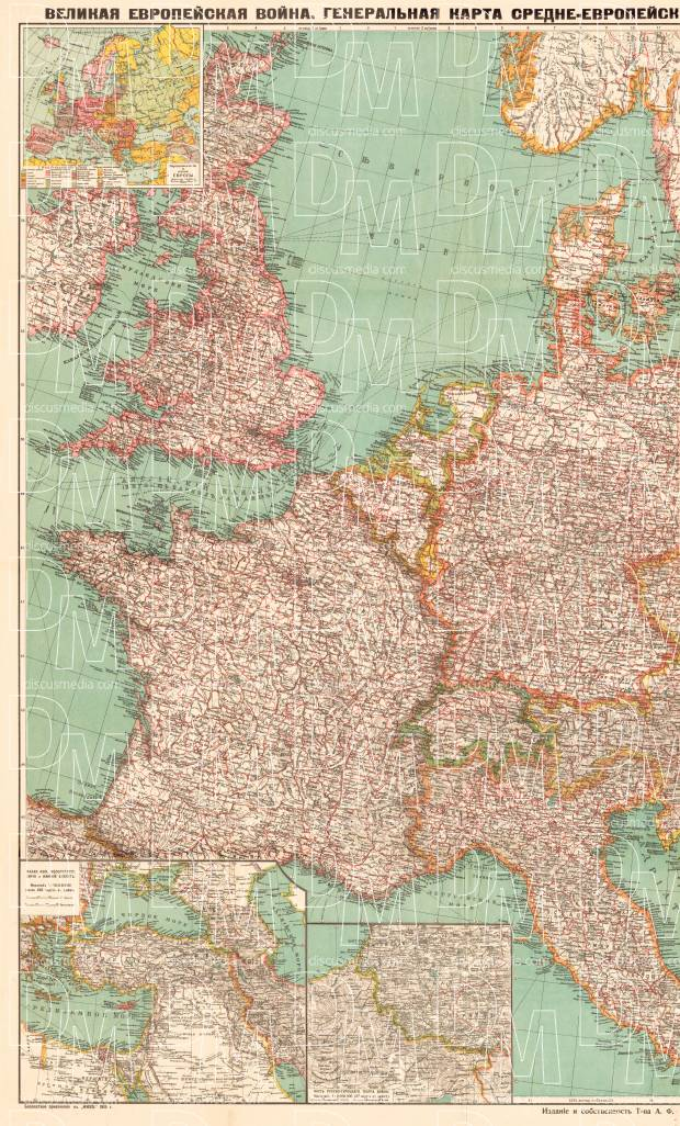 Old map of the great european war theater left half in 1915 buy map of europe the great european war theater 1915 left half use gumiabroncs Gallery