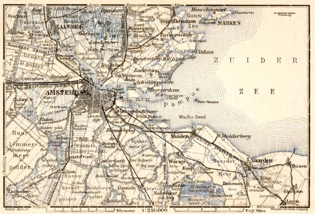 Old Map Of Amsterdam And Vicinity In Buy Vintage Map Replica - Amsterdam old map