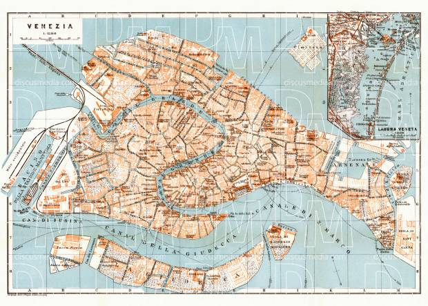 image relating to Printable Map of Venice named Venice metropolis map, 1929
