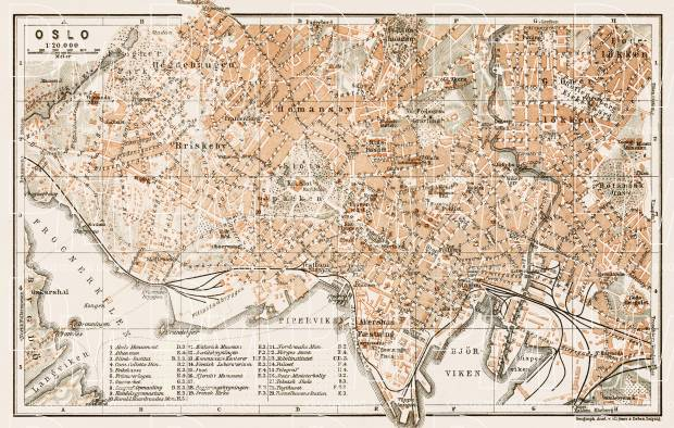 Old map of oslo in 1911 buy vintage map replica poster print or oslo city map 1931 use the zooming tool to explore in higher level of sciox Gallery