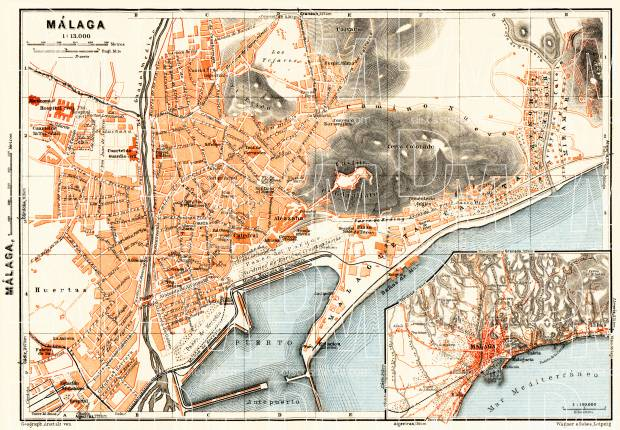 Málaga, city map. Environs of Málaga, 1929 on map of marsala, map of penedes, map of italica, map of costa de la luz, map of graysville, map of tampere, map of venice marco polo, map of mount ephraim, map of mutare, map of puerto rico gran canaria, map of macapa, map of sagunto, map of soria, map of getxo, map of iruna, map of cudillero, map of isla margarita, map of andalucia, map of bizkaia, map of monchengladbach,