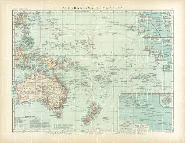 Map Of Australia To Buy.Old Map Of Australia And Oceania In 1905 Buy Vintage Map Replica