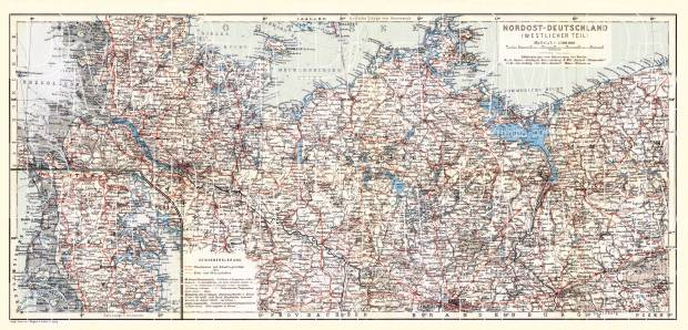 Old Map Of Northwest Germany With Schleswig In 1911 Buy Vintage Map