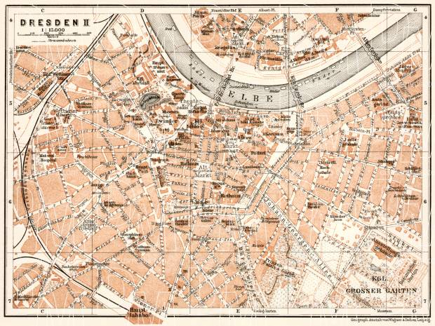 Old Map Of Dresden Center In 1911 Buy Vintage Map Replica Poster