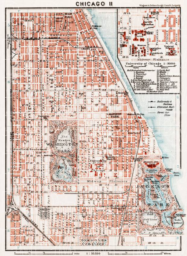 Chicago America Map.Old Map Of South Chicago In 1909 Buy Vintage Map Replica Poster