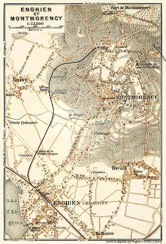 Enghien and Montmorency map, 1903