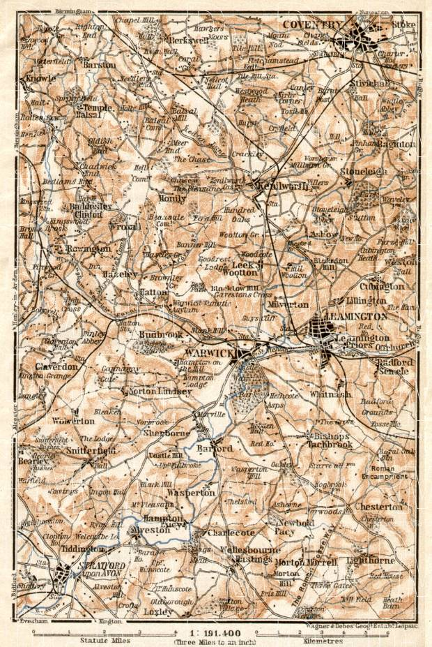 Warwick and environs map, 1906. Use the zooming tool to explore in higher level of detail. Obtain as a quality print or high resolution image