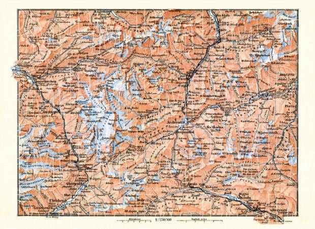 St. Gothard and environs map, 1897. Use the zooming tool to explore in higher level of detail. Obtain as a quality print or high resolution image