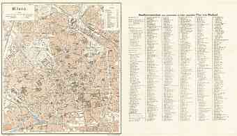 Milan (Milano) city map, 1929