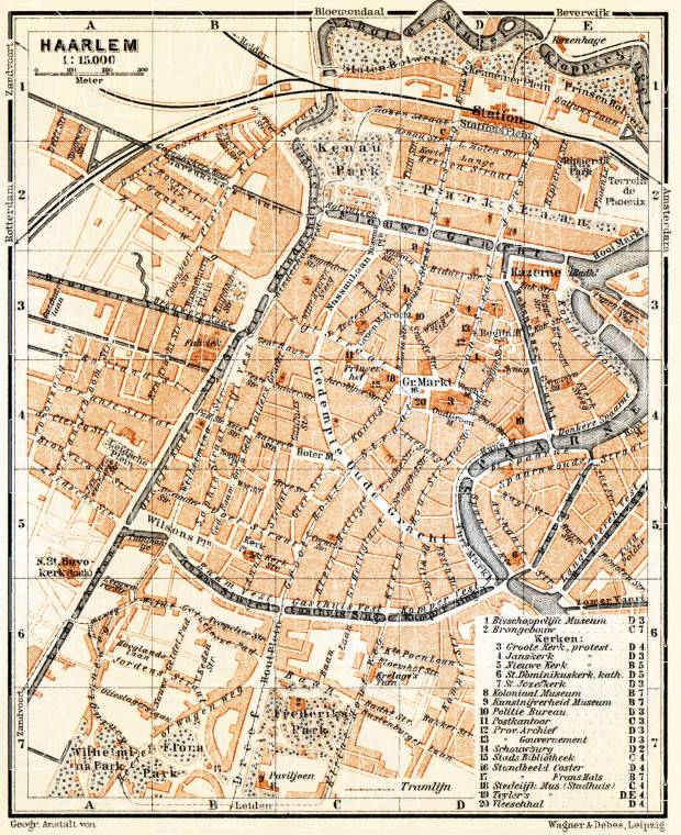 Old map of Haarlem in 1904. Buy vintage map replica poster print or ...