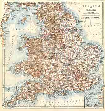 England and Wales map, 1909