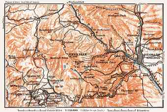 Map of the Environs of Colorado Springs, 1909
