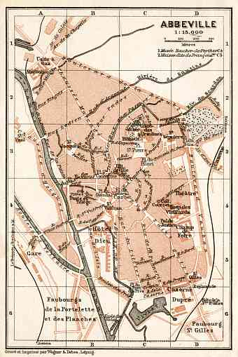 Abbeville city map, 1909