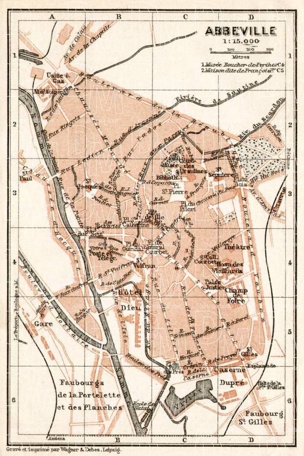 Abbeville city map, 1909. Use the zooming tool to explore in higher level of detail. Obtain as a quality print or high resolution image