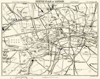 Sketch plan of London, 1907