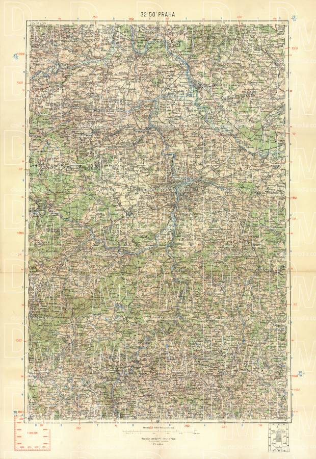 Prague (Prag, Praha) environs map, 1913. Use the zooming tool to explore in higher level of detail. Obtain as a quality print or high resolution image