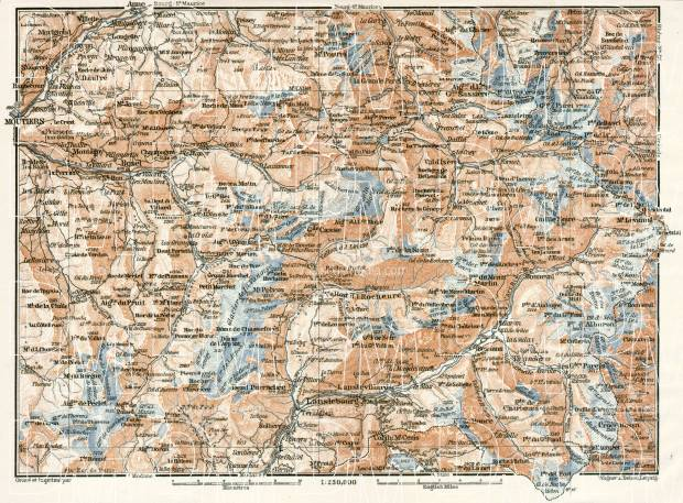 Tarentaise and Maurienne map, 1900. Use the zooming tool to explore in higher level of detail. Obtain as a quality print or high resolution image