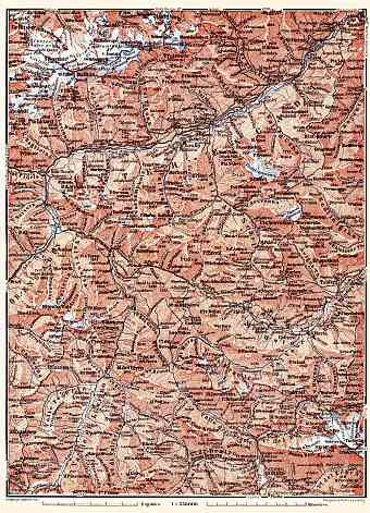 Basse-Engadine map, 1897