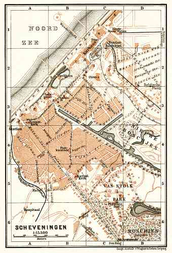 Historical map prints of Hague Den Haag sGravenhage in