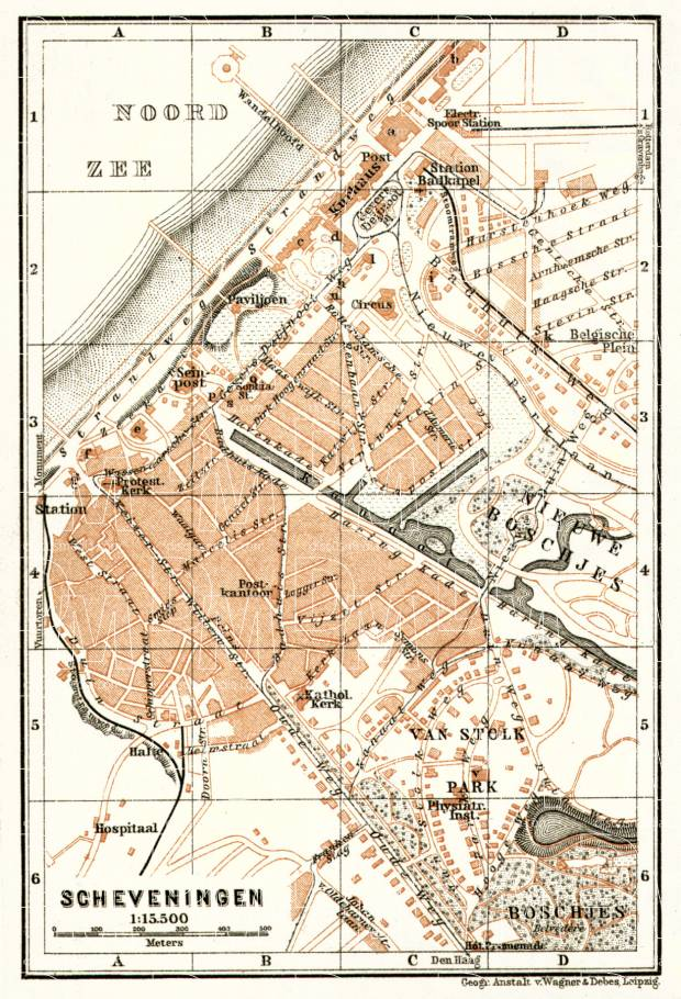Scheveningen town plan, 1909. Use the zooming tool to explore in higher level of detail. Obtain as a quality print or high resolution image