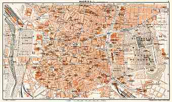 Madrid, city centre map, 1929