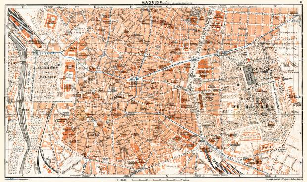 Madrid, city centre map, 1929. Use the zooming tool to explore in higher level of detail. Obtain as a quality print or high resolution image