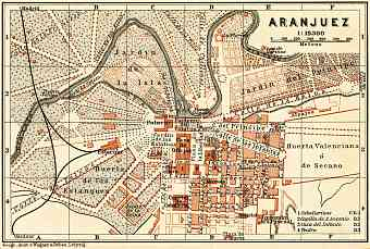 Aranjuez city map, 1899