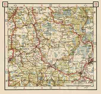Estonian Road Map, Plate 11: Rapla. 1938
