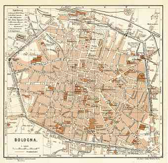 Bologna city map, 1929