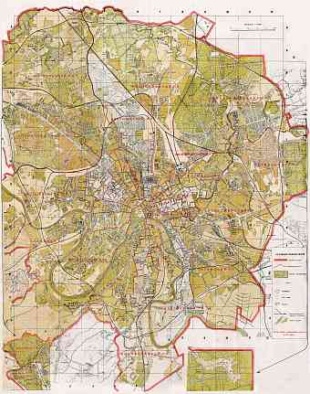 Moscow (Москва, Moskva) city map, 1936