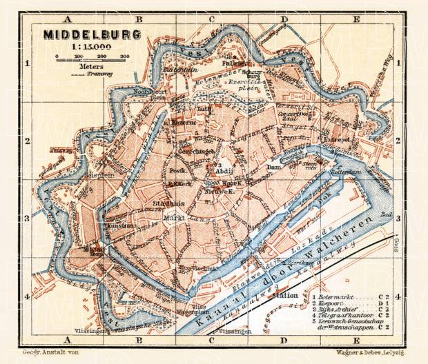 Middelburg city map, 1904. Use the zooming tool to explore in higher level of detail. Obtain as a quality print or high resolution image