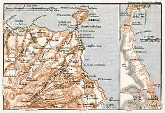 Las Palmas de Gran Canaria and environs map, 1911