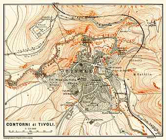 Tivoli and environs map, 1898