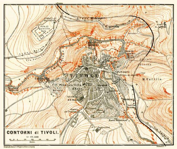 Tivoli and environs map, 1898. Use the zooming tool to explore in higher level of detail. Obtain as a quality print or high resolution image