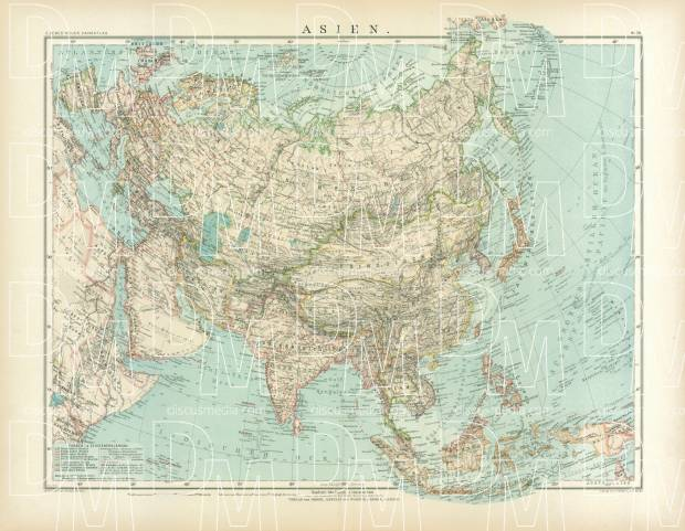 Asia General Map, 1905. Use the zooming tool to explore in higher level of detail. Obtain as a quality print or high resolution image
