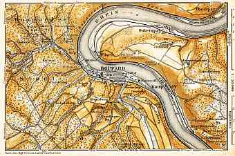 Boppard and environs map, 1905