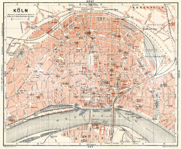 Old map of cologne kln in 1906 buy vintage map replica poster cologne kln city map 1906 use the zooming tool to explore in gumiabroncs Choice Image