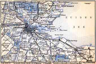 Amsterdam and environs map, 1904