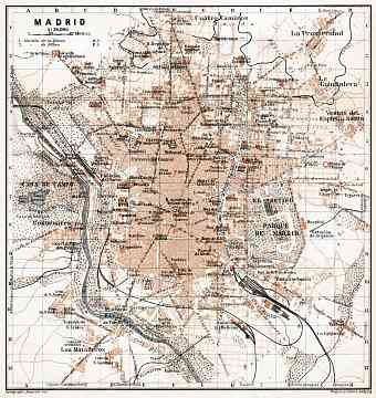 Madrid city map, 1913