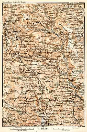 Derbyshire Peak map, 1906