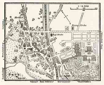 Bad Ragaz (Ragatz) town plan, 1909