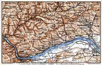 Map of the Course of the Rhine from Mainz to Lorch, 1887