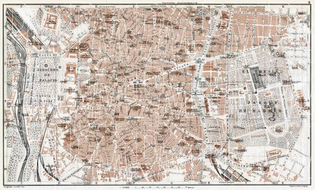 Madrid, central part map, 1913. Use the zooming tool to explore in higher level of detail. Obtain as a quality print or high resolution image